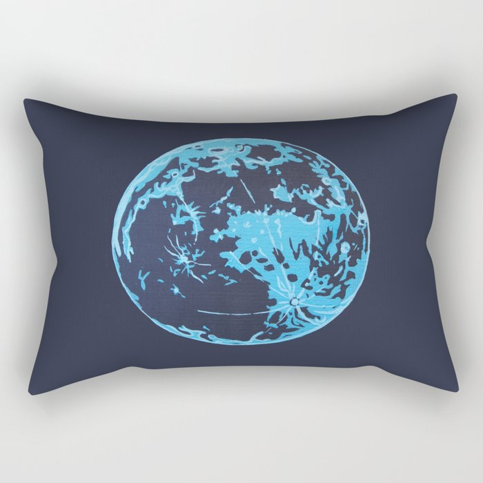 Turquoise Moon Rectangular Pillow