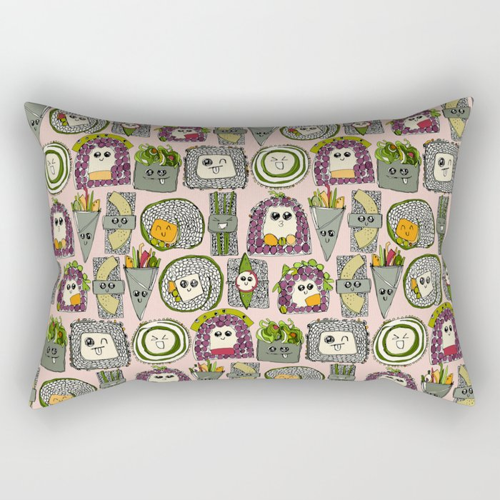 veggie sushi melba Rectangular Pillow