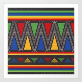 Mexican Geometric Pattern Art Print