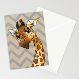 Chevron Giraffe! Stationery Cards
