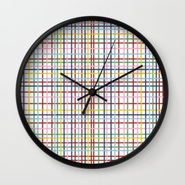 Rainbow Weave Wall Clock