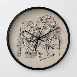 Frozen's Elsa and Anna Wall Clock
