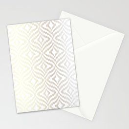 Silver Bargello Geometric Stationery Cards