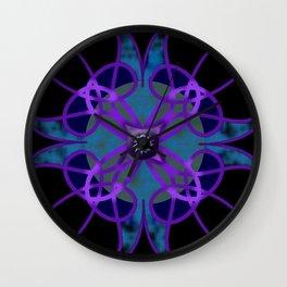 Flower in Purple Wall Clock