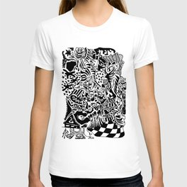 Antuan Rene Chaos style 2, Cuban chaotic art, Graphic Absurd, disorder T-shirt