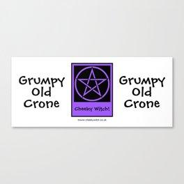 Grumpy Old Crone Pagan Wiccan Cup Mug Canvas Print