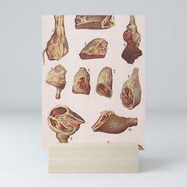 VINTAGE MEAT Mini Art Print