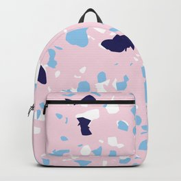 Girly Baby Girl Pink and Baby Boy Blue Abstract Pattern Backpack