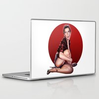 calendar Laptop & iPad Skins featuring CALENDAR GIRL by Kiko Alcazar