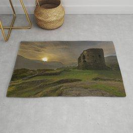Dolbadarn Castle Sunrise Rug