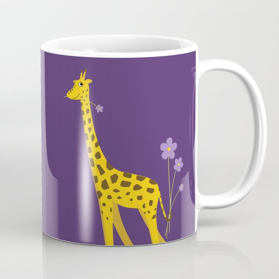 Funny Giraffe Roller Skating Mug