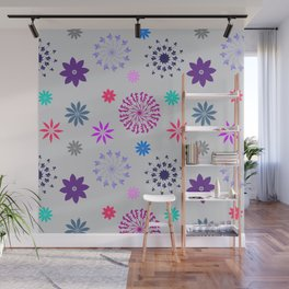 Fireworks on a Gray Day Wall Mural