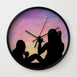 Pastel Night Wall Clock