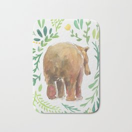 Watercolor Bear Bath Mat