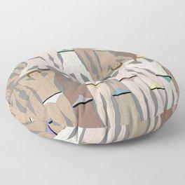 Retro Male Swimmers Floor Pillow
