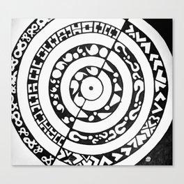 Punctuation Mandala Canvas Print
