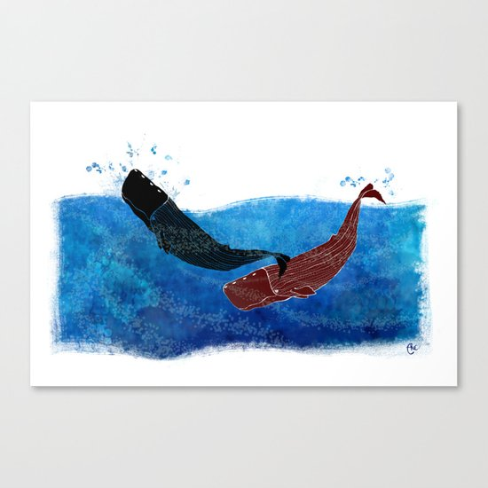 Selk'nam Whales Canvas Print