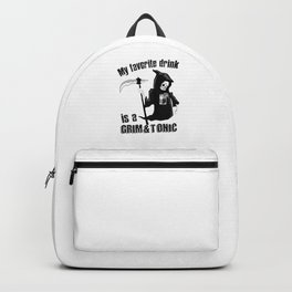 Awesome Halloween Drink Grim And Tonic Reaper Backpack