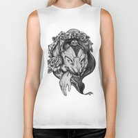 red riding hood Biker Tanks featuring Riding Hood by FLORA+FAUNA