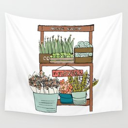 Mei's Farm Stand Wall Tapestry