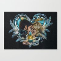 captain swan Canvas Prints featuring Captain Swan by Svenja Gosen