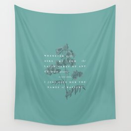 P + R Gardening Wall Tapestry