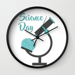 Science day - the more experiments the better improvement Wall Clock