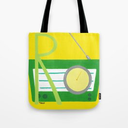 R is for Radio Tote Bag