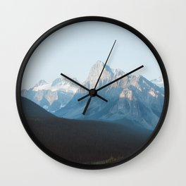 Sunrise at Valley of the Ten Peaks Wall Clock