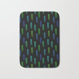 Neon Blue and Green Pattern Bath Mat