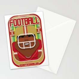 American Football Red and Gold - Enzone Puntfumbler - Hayes version Stationery Cards