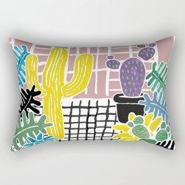 Cacti & Succulent Greenhouse Rectangular Pillow