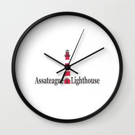 Assateague Lighthouse - Virginia. Wall Clock