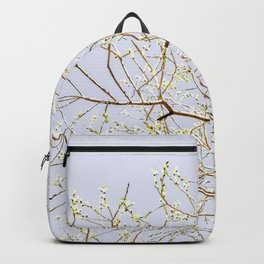 Blooming Willow Tree In Spring. Minimalist Composition Backpack