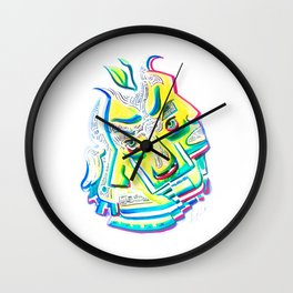 Blurred Emotions Wall Clock