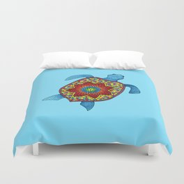 Turtley Awesome Mosaic Turtle Duvet Cover