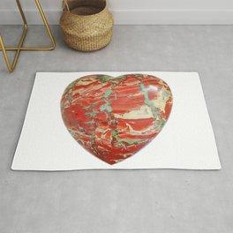 Big Red Jasper Heart - Side 2 Rug