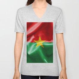 Burkina Faso Flag Unisex V-Neck
