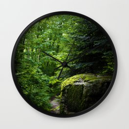 Golden & Magical Forest (Color) Wall Clock