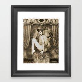 Dark Victorian Portrait: The Harlequin Framed Art Print