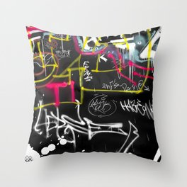 New York Traces - Urban Graffiti Throw Pillow