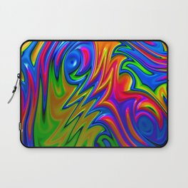 Psychedelic Rainbow Fractal Laptop Sleeve