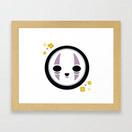 Kawaii No Face Framed Art Print