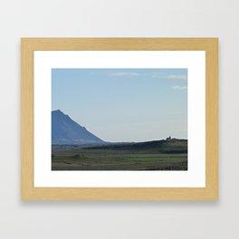 Icelandic mountains Framed Art Print