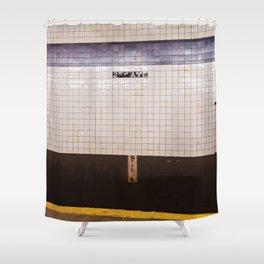East Village Subway Shower Curtain