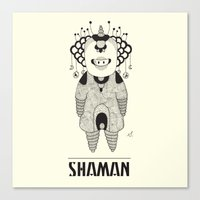space jam Canvas Prints featuring Shaman - Space Jam by Beara