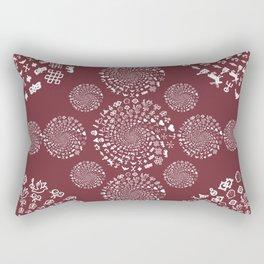 Merlot Love Symbol Mandala Rectangular Pillow