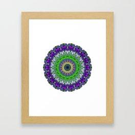 Green Light Mandala Art by Sharon Cummings Framed Art Print