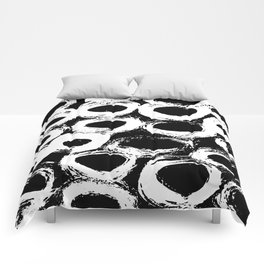 Minimal [4]: a simple, black and white pattern by Alyssa Hamilton Art Comforters