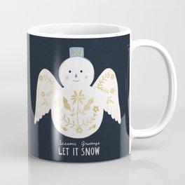 Holiday Flower Snowman Coffee Mug